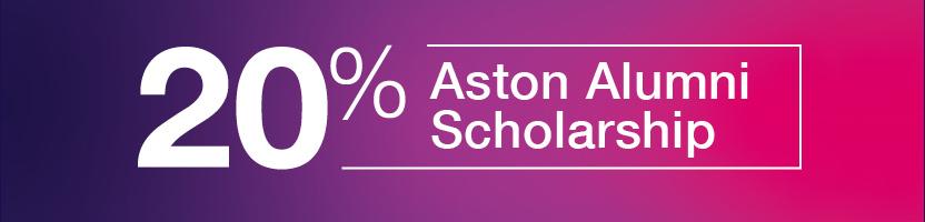 20 per cent postgraduate alumni scholarship
